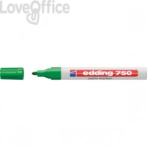 Pennarello a vernice verde - Edding 750 - tonda - 2-4 mm
