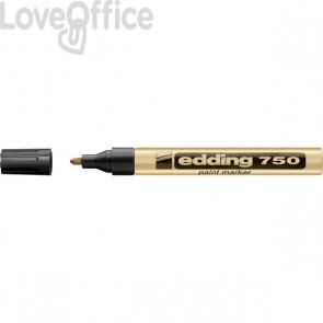 Pennarello a vernice oro - Edding 750 - tonda - 2-4 mm