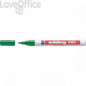 Pennarello Indelebile a vernice Edding 751 - verde - tonda - 1-2 mm