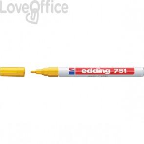 Pennarello indelebile a vernice Edding 751 - giallo - tonda - 1-2 mm