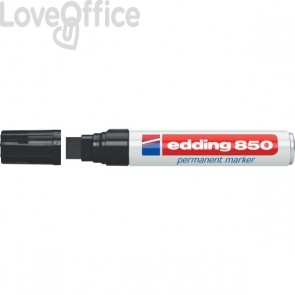 Pennarello indelebile nero Edding 850 - scalpello - 5-16 mm