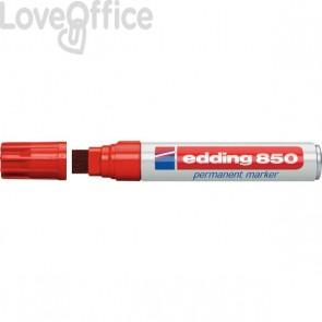 Pennarello indelebile rosso Edding 850 - scalpello - 5-16 mm