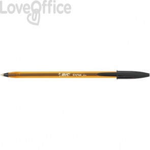 Penne a sfera Cristal® Fine Bic - blu - 0,8 mm - cappuccio (conf.50)
