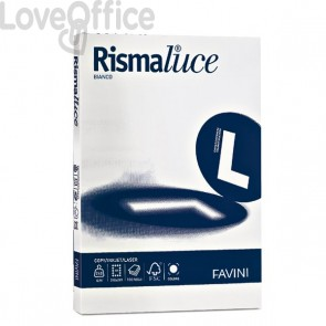 Risma carta A3 - Carta per stampante Rismaluce bianco Favini - 100 g/mq (300 fogli)