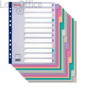 Intercalari PPL Multicolor translucent Esselte - 12 tasti