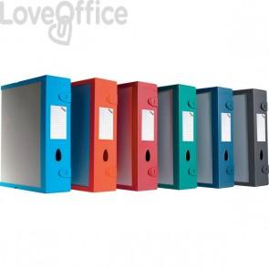 Scatola Archivio Combi Box E500 Fellowes - Dorso 9 mm - blu navy - E500BN