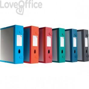 Scatola Archivio Combi Box E500 Fellowes - Dorso 9 mm - grigio grafite - E500GG