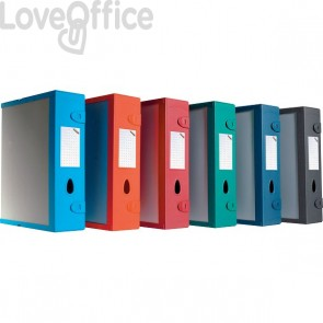 Scatola Archivio Combi Box E500 Fellowes - Dorso 9 cm - Rosso