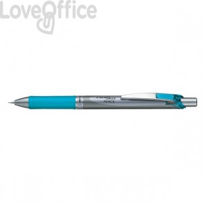 Portamine Energize Pentel - acciaio/azzurro - 0,7 mm - PL77-SO
