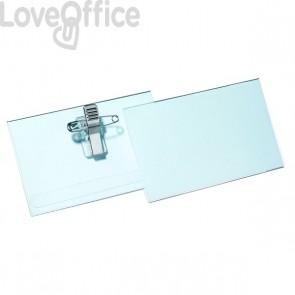 Portabadge con clip e spilla in metallo Durable - 5,4x9 cm - 8145-19 (conf.50)