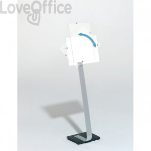 Espositore da pavimento Crystal Sign Stand A3 Durable - A3 - 118-125 cm - 4819-23