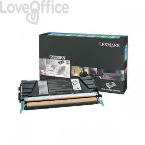Originale Lexmark C5220KS Toner return program nero