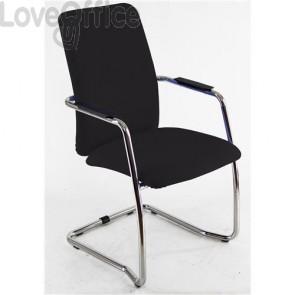 sedia da ufficio in similpelle nera operativa