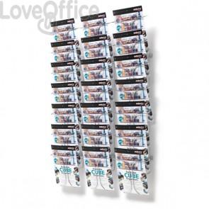 Espositore da parete in filo metallico Deflecto - A4 - 21 - 78x14x112 cm - 78945