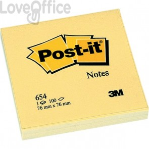 Post-it® Notes Giallo Canary - giallo canary - 76x76 mm - 654 (conf.12)