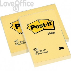Post-it® Notes Giallo Canary - giallo canary - 51x76 mm - 656 (conf.12)