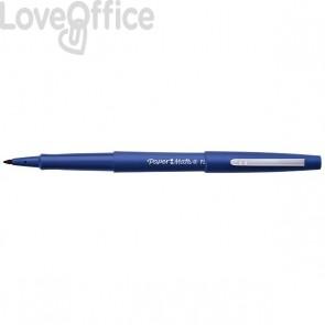 Penna con punta sintetica Flair Nylon Papermate - nero - 1 mm - S0190972/3 (conf.12)