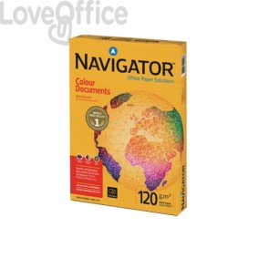 Carta per fotocopie Colour Documents Navigator - Risma Carta A4 - 120 g/mq (conf.8)