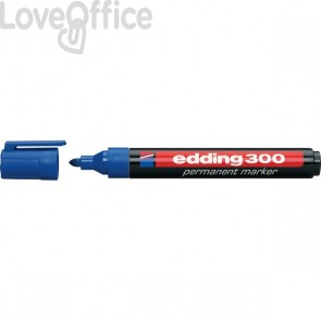 Pennarelli indelebili blu Edding 300 - tonda - 1,5-3 mm (conf.10)