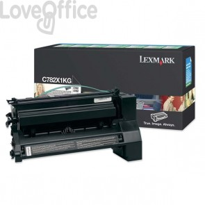 Originale Lexmark C782X1KG Toner altissima resa return program nero