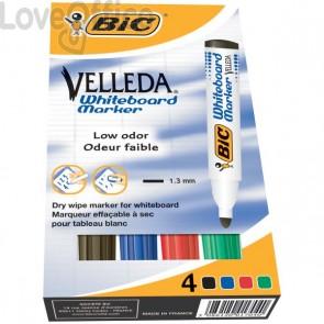 Pennarelli per lavagna VELLEDA® 1701 Bic - assortiti - 1.5 mm (conf.4)