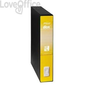 registratore a leva giallo con custodia rexel
