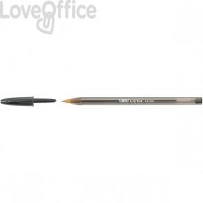 Penne a sfera Cristal® Bic - Large - nero - 1,6 mm - cappuccio (conf.50)