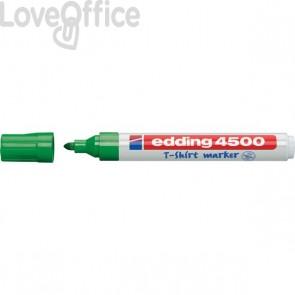 Pennarello per tessuti verde - Edding 4500 - tonda - 2-3 mm