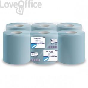 Rotoli asciugamano e multiuso Lucart - Pura cell. 2 veli - H 21 x Ø 20 cm - 450 strappi - 135m (conf.6 rotoli)