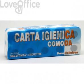 Carta igienica Lucart - Pura cellulosa - 2 veli - 155 strappi - 811553 (conf.10 rotoli)