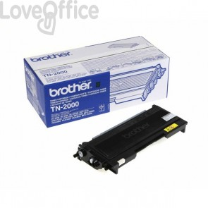 Toner Brother Originale TN-2000 alta resa SERIE 2000 nero