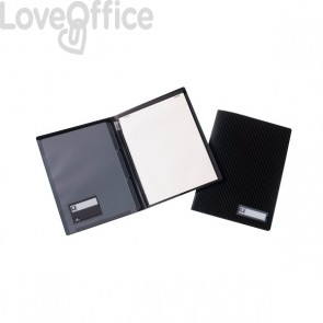 Cartellina portablocco Black Tie Tecnostyl - A4 - nero - BT451