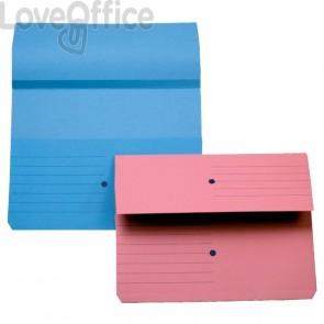 Cartelline canguro - 4company - woodstock -  225 g/mq - 32,5x25,5 cm - rosa (conf.10)