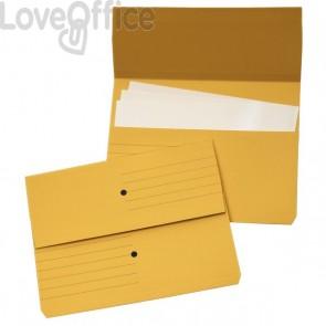 Cartelline canguro - 4company - woodstock -  225 g/mq - 32,5x25,5 cm - giallo (conf.10)