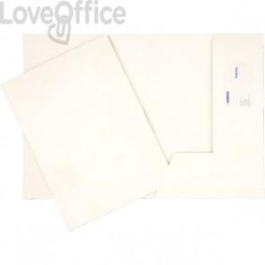 Cartelline cartoncino - 4company - bindakote - 250 g/mq - 32x24 cm - bianco (conf.10)
