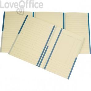 Cartelline cartoncino - 4company - Pratica avvocati - Arachide - 34,5x24,5 cm - 285 g - Blu/nero (conf.20)