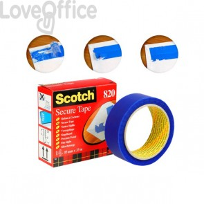 Nastro Scotch® Secure Tape - 35 mm x 33 m - blu - 820-49300