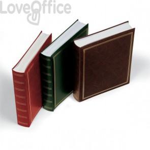 Album portafoto in similpelle Lebez - copertina rossa - 50 fogli - 30x33 cm