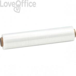 Film estensibile Syrom - per uso manuale - 50 cm x 180 m - bianco - 23 micron - 5699