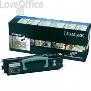 Originale Lexmark X340H11G Toner alta resa return program nero
