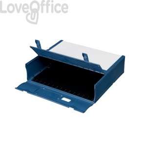 Scatola Archivio Combi Box E600 Fellowes - Dorso 9 cm - Blu navy