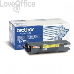 Toner Brother Originale TN-3280 alta resa SERIE 3200 nero
