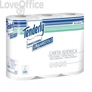 Carta igienica granrotolo Tenderly professional - 2 veli - 280 strappi - 811914 (conf.6 rotoli)