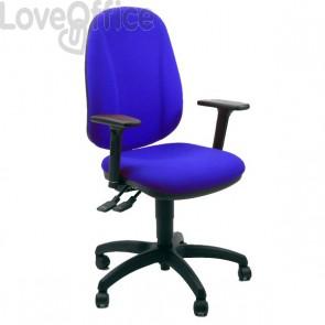 Sedia ergonomica GIANO UNISIT - polipropilene - BLU