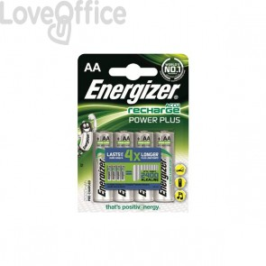 Ricaricabili Energizer - stilo - AA - 2000 mAh - E300626700 (conf.4)