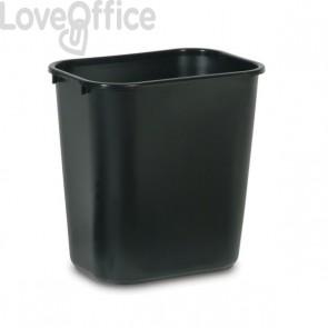 Cestino rifiuti raccolta differenziata Rubbermaid - nero - 39 l - 38,7x28x50,5 cm - 2957- FG295700BLA