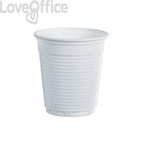 Bicchieri 80 cc linea plastica DOpla - bianco - Ø 5,75 cm - 02015 (conf.100)