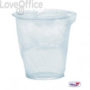 Bicchieri Diamant trasparente DOpla - Imbustato singolarmente - 200 cc - 02866 (conf.200)