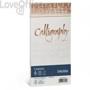 Calligraphy Canvas Ruvido Favini - bianco - 11x22 cm - 100 g - A570414 (conf.25)