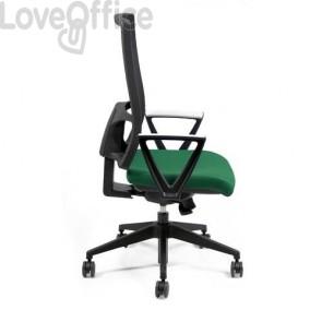 Sedia ufficio ergonomica semidirezionale NEREIDE UNISIT - polipropilene - VERDE - NDAE/EV